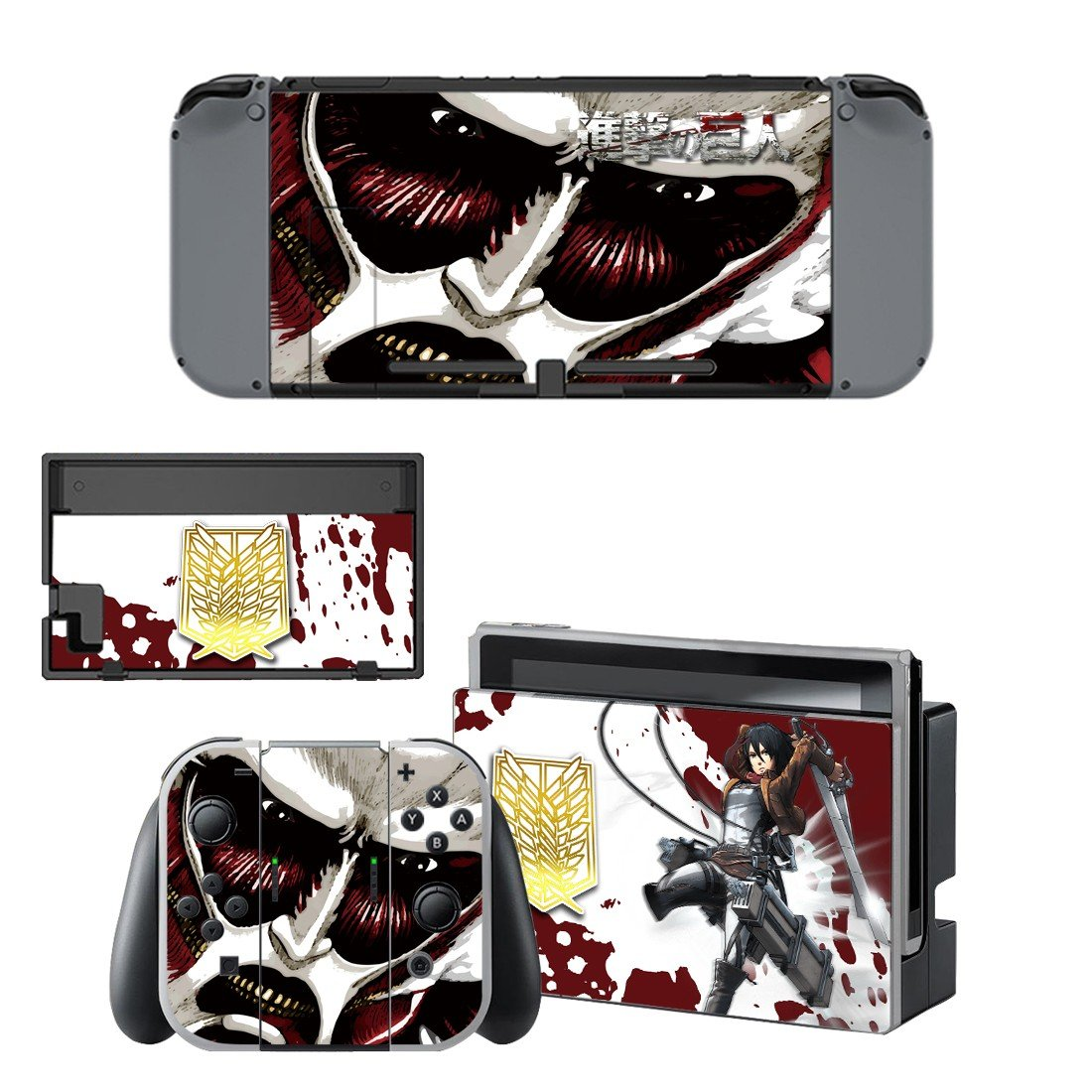 Attack on titan decal for Nintendo switch console sticker skin