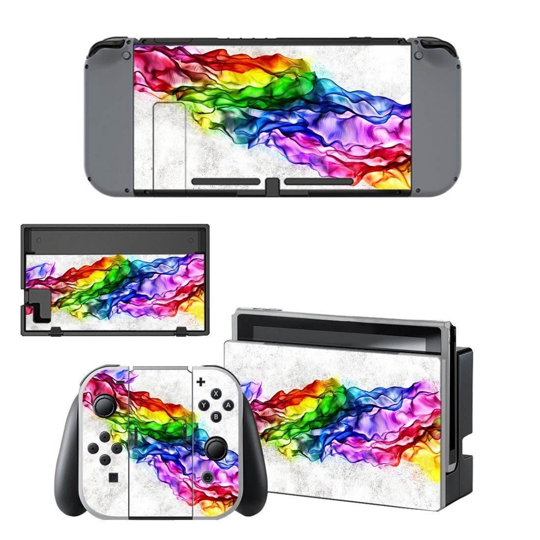 Colorful wallpaper decal for Nintendo switch console sticker skin