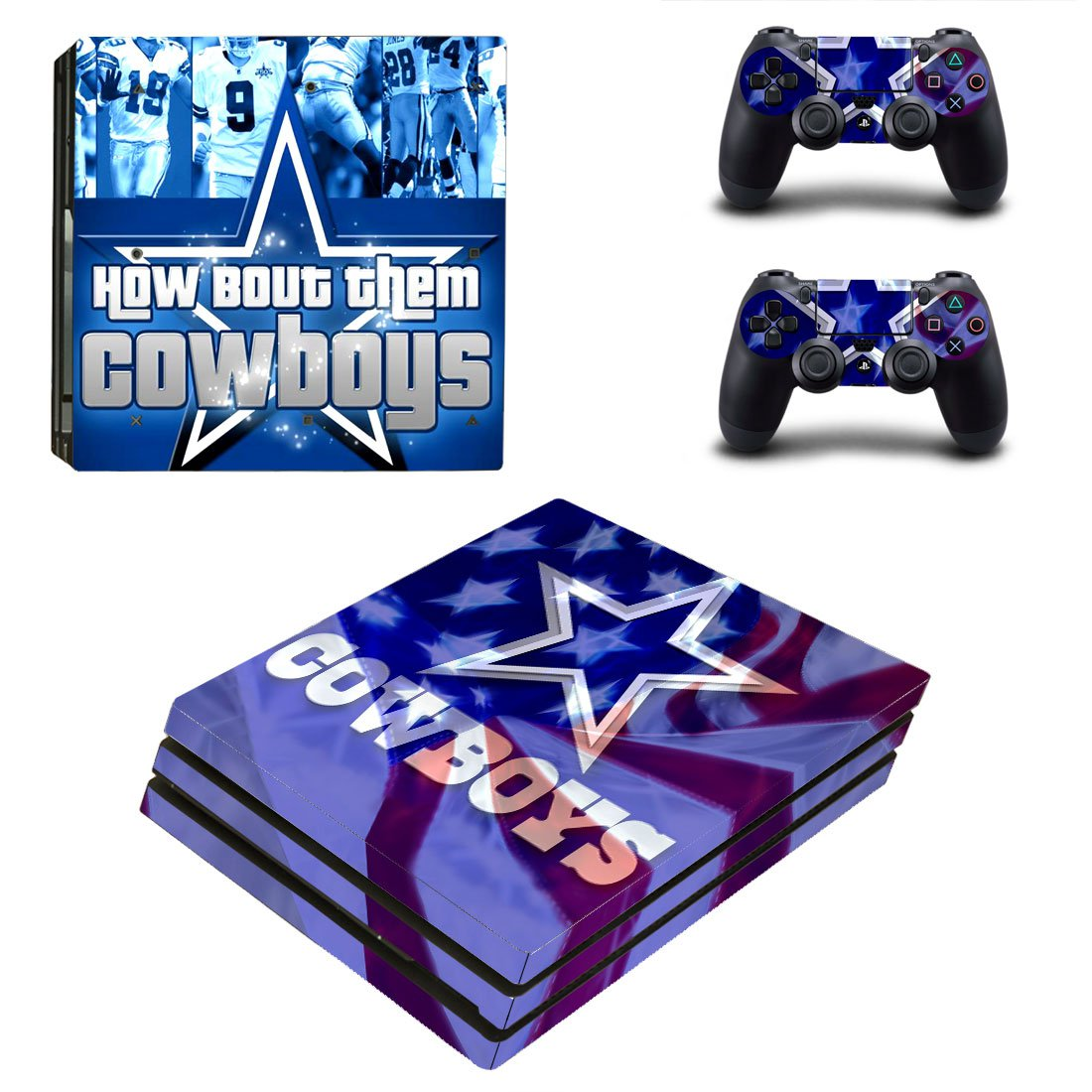 Dallas Cowboys ps4 pro skin decal for console and controllers
