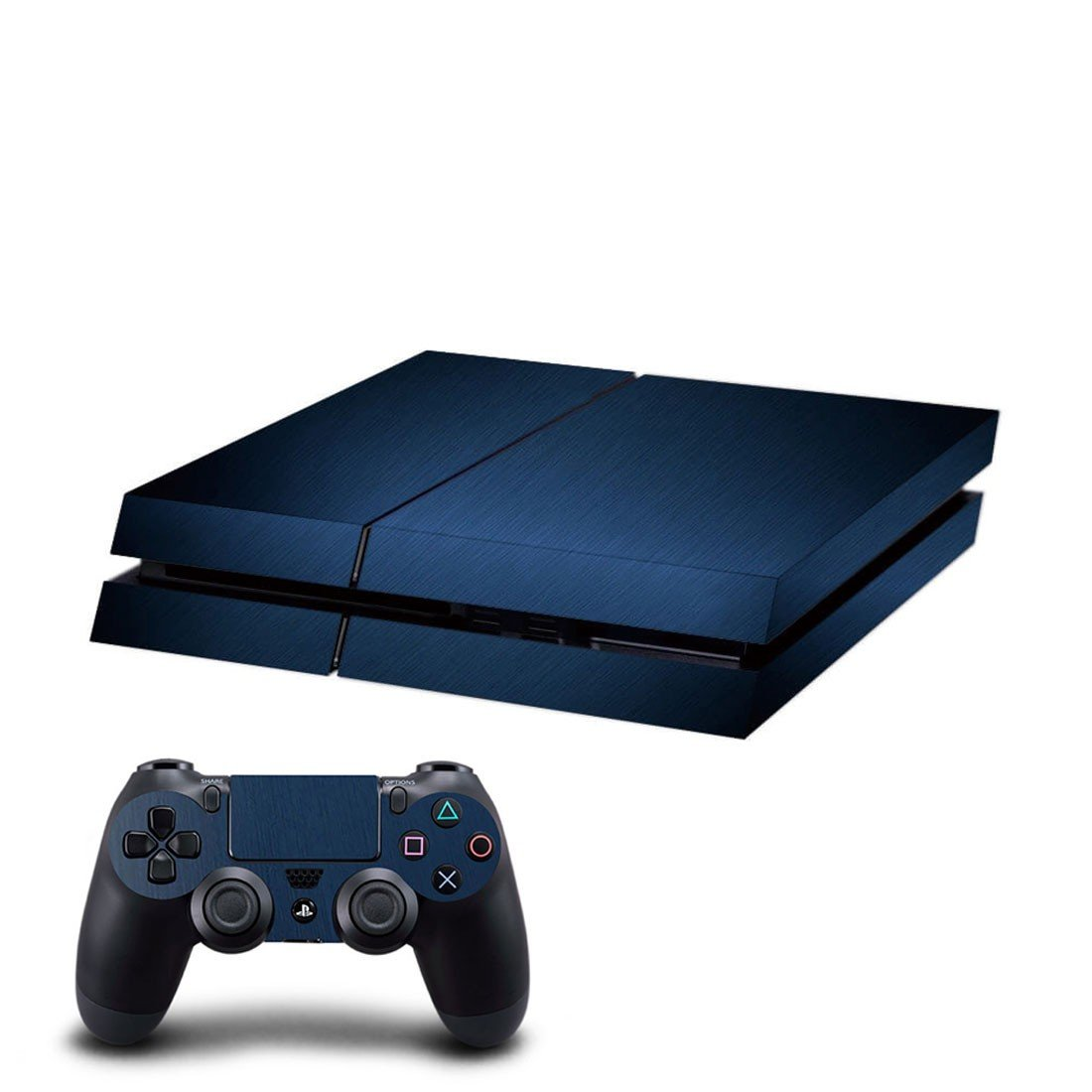 Dark blue skin decal for ps4 console and controllers