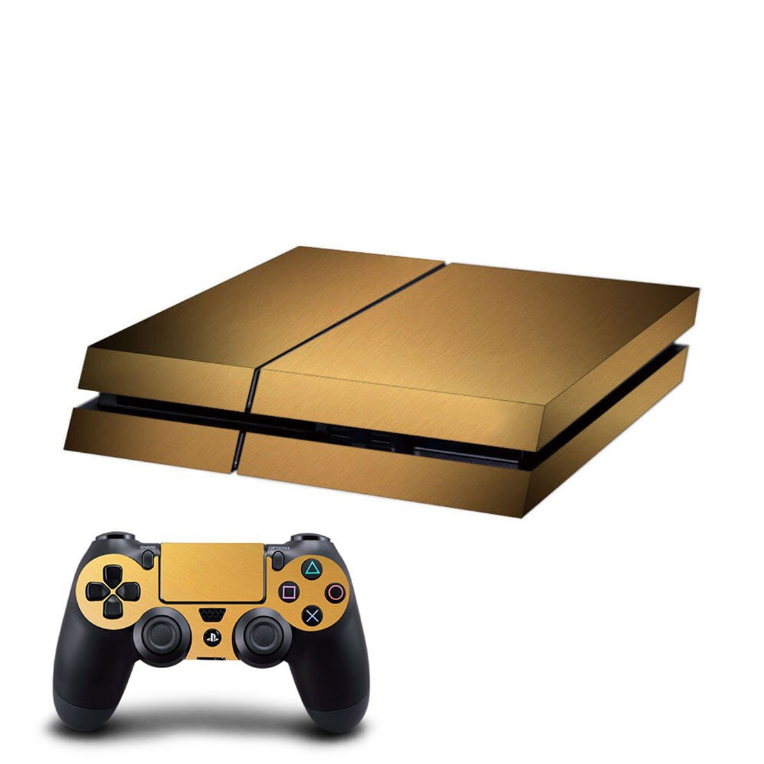 Pale green skin decal for ps4 console and controllers