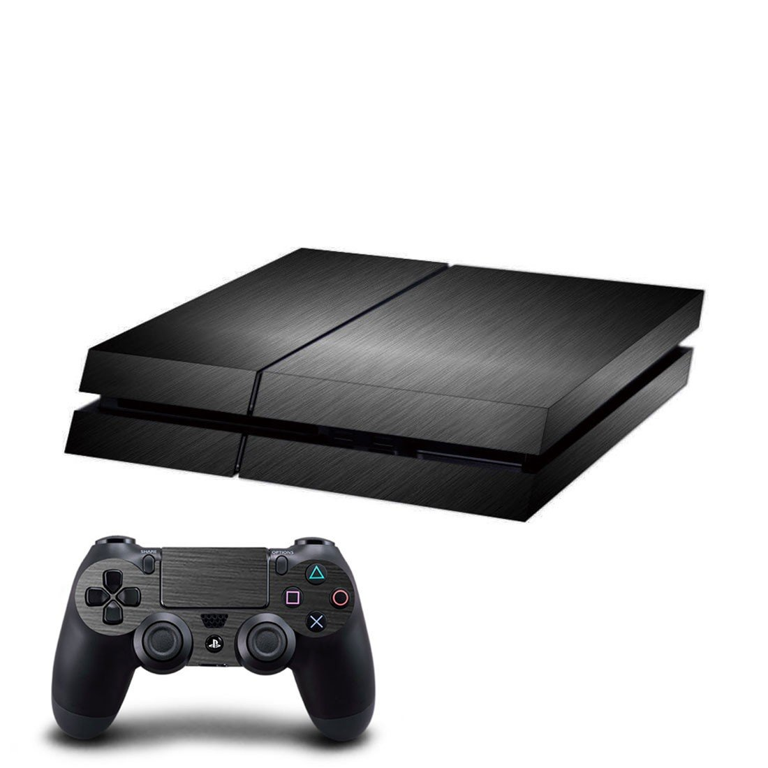 Lite black skin decal for ps4 console and controllers
