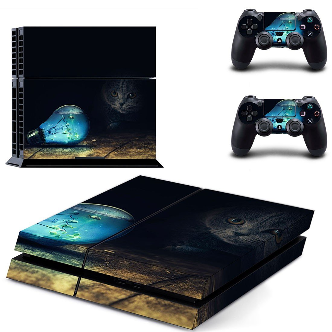 Colored bulb skin decal for ps4 console and controllers