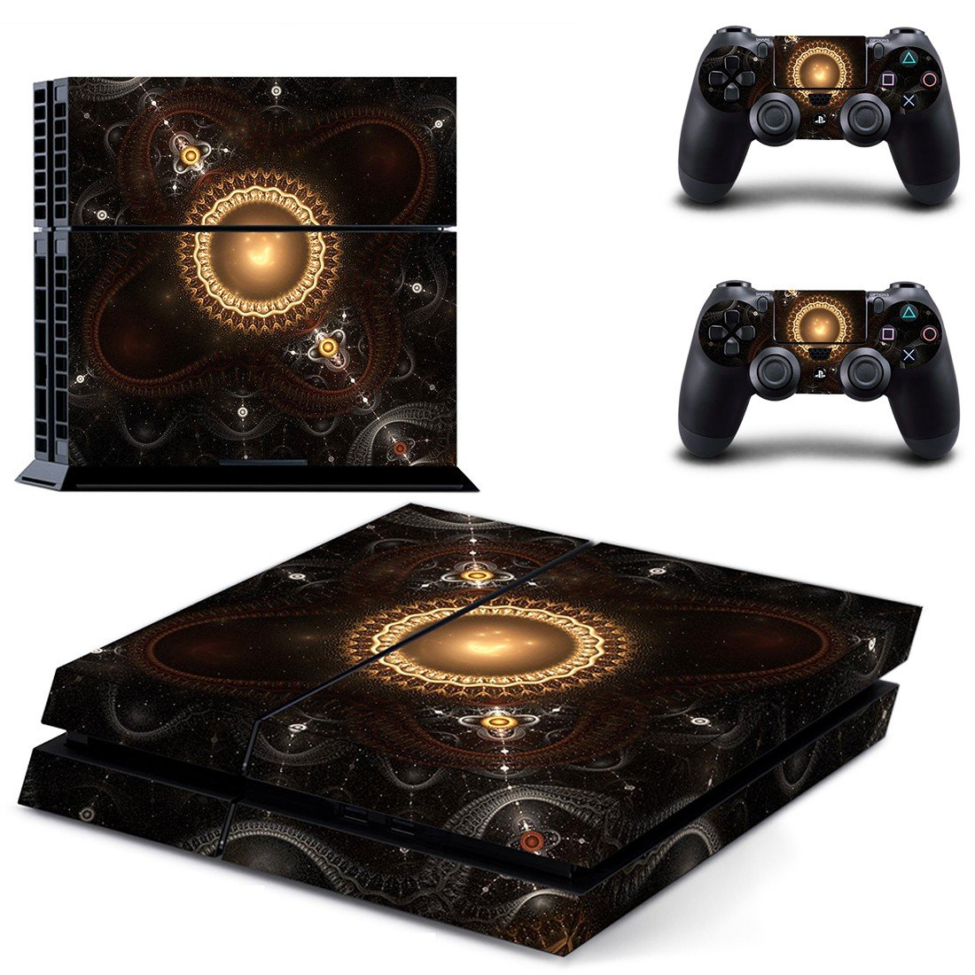 Fractal art skin decal for ps4 console and controllers
