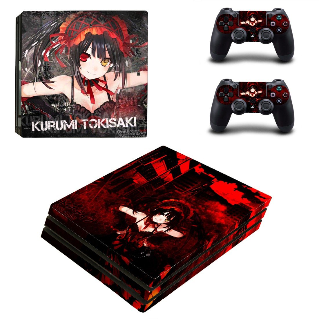 Kurumi Tokisaki ps4 pro skin decal for console and controllers