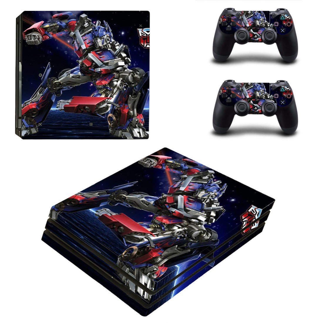 Transformers ps4 pro skin decal for console and controllers