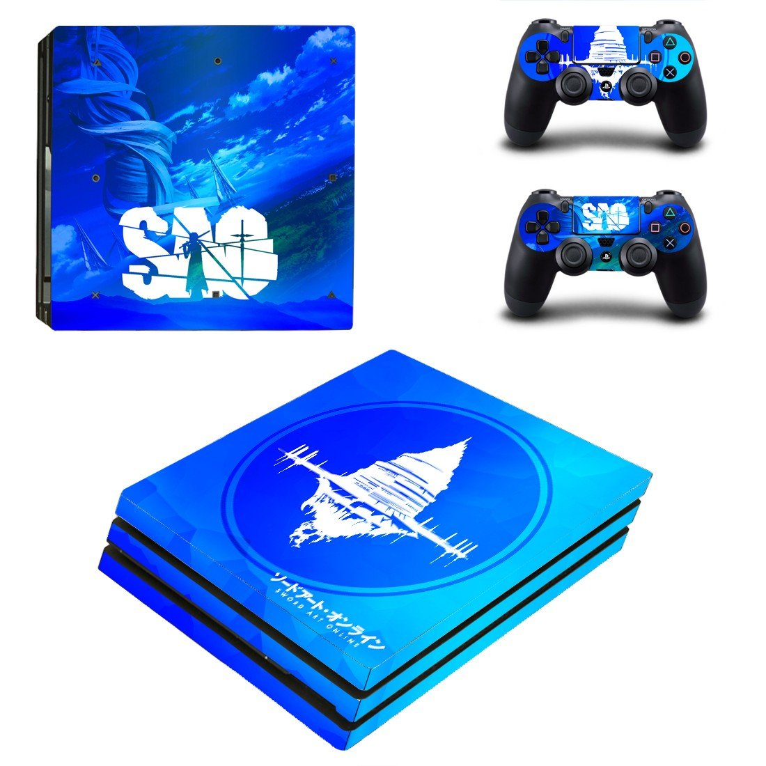 Sword art online  ps4 pro skin decal for console and controllers