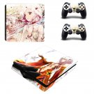 Cartoon anime ps4 slim skin decal for console and controllers