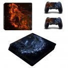 Water splash  ps4 slim skin decal for console and controllers