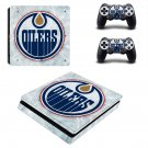 Edmonton Oilers  ps4 slim skin decal for console and controllers