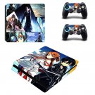 Sword art online ps4 slim skin decal for console and controllers