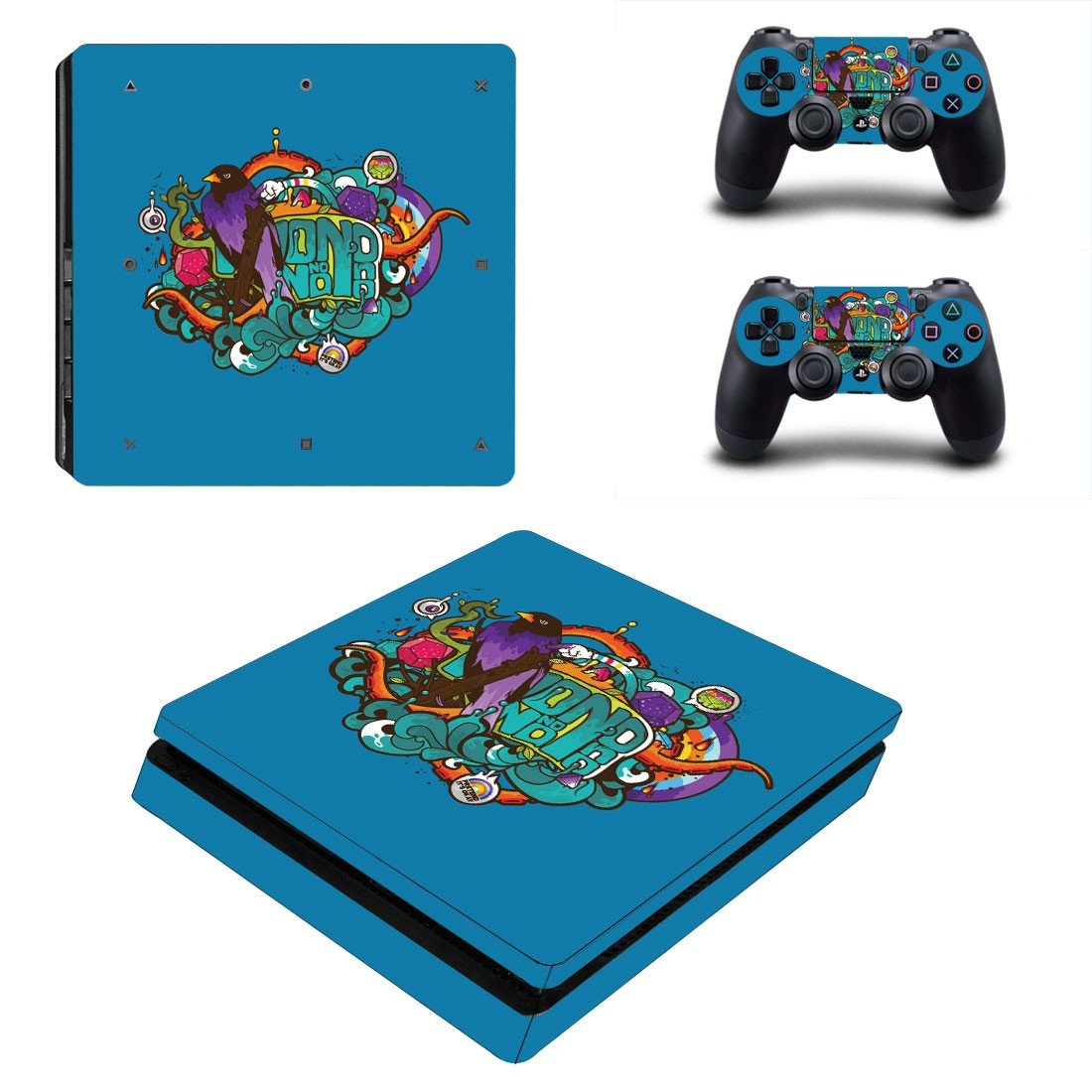 Animated art ps4 slim skin decal for console and controllers