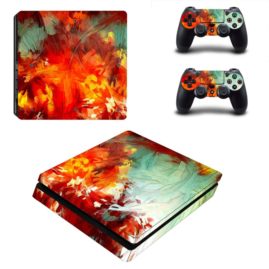 Painted plant ps4 slim skin decal for console and controllers