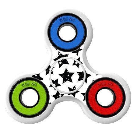 Black Polka stars Skin Decal for Hand Fidget Spinner sticker toy