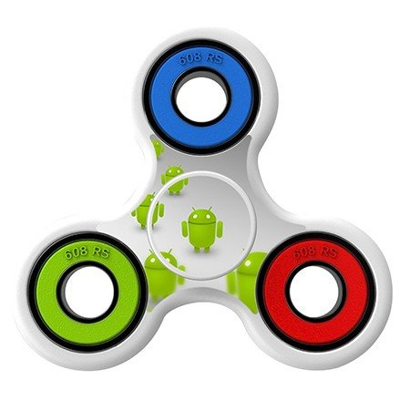 Android icon Skin Decal for Hand Fidget Spinner sticker toy