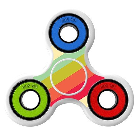 Orange Colors Skin Decal for Hand Fidget Spinner sticker toy