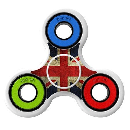UK Flag Skin Decal for Hand Fidget Spinner sticker toy