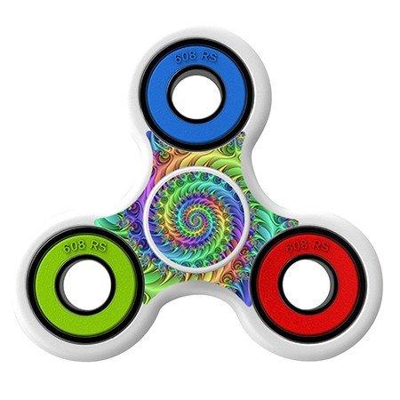 Spiral art Skin Decal for Hand Fidget Spinner sticker toy