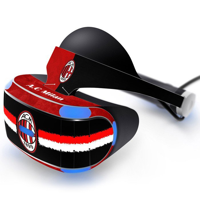 AC Milan Skin Decal for Playstation VR PS4 Headset cover sticker