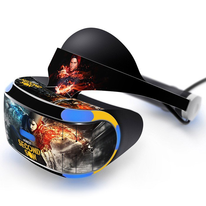Infamous Second Son Skin Decal for Playstation VR PS4 Headset cover sticker