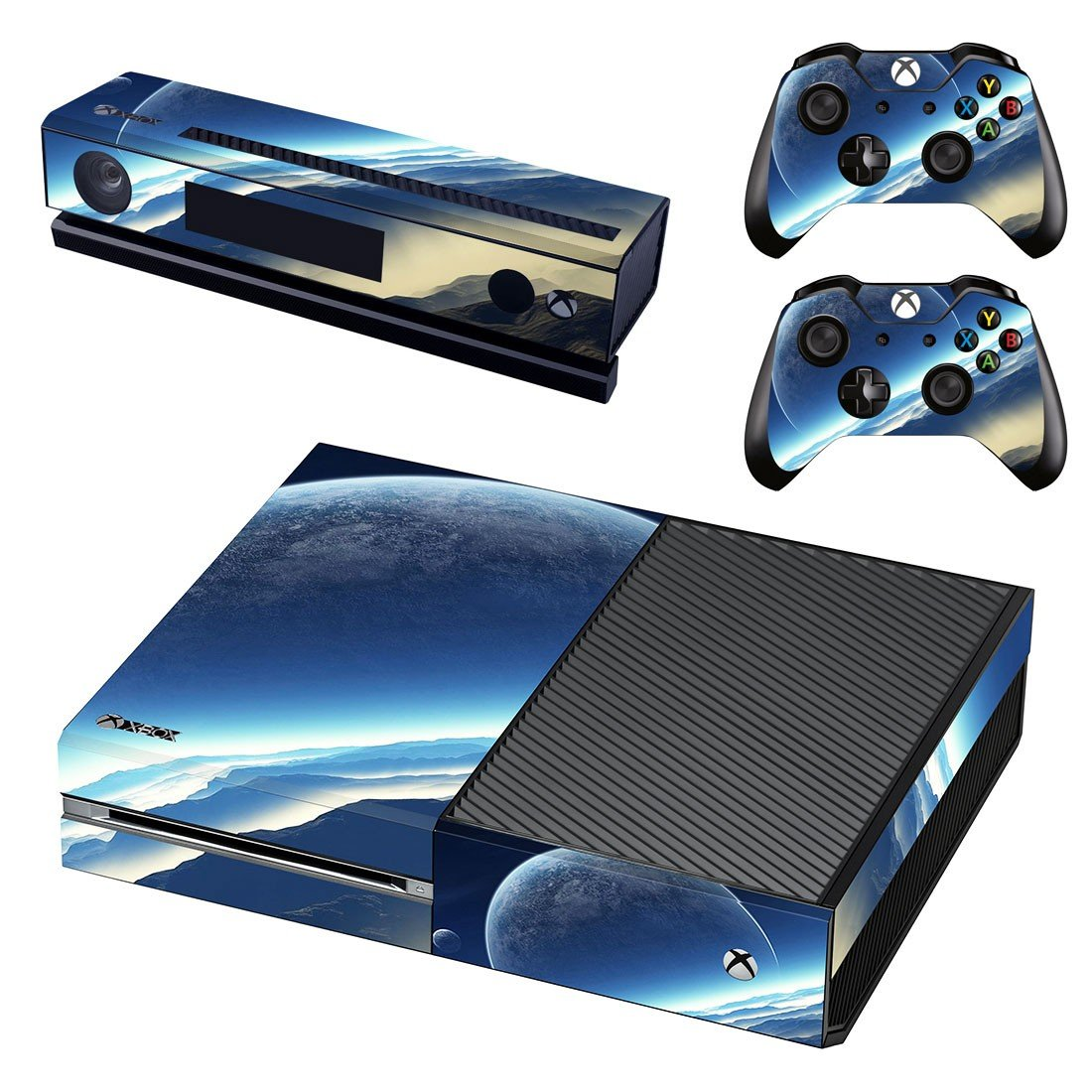 Sun sets scene skin decal for Xbox one console and controllers