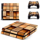 Square block skin decal for PS4 PlayStation 4 console and 2 controllers