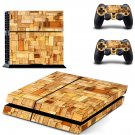 Wooden slide board skin decal for PS4 PlayStation 4 console and 2 controllers