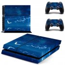 Sun sets clipart skin decal for PS4 PlayStation 4 console and 2 controllers