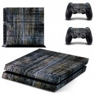 Blurry board skin decal for PS4 PlayStation 4 console and 2 controllers
