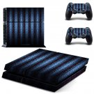 Vintage blue skin decal for PS4 PlayStation 4 console and 2 controllers