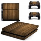 Wooden board skin decal for PS4 PlayStation 4 console and 2 controllers