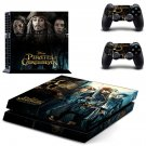 Pirates of the caribbean skin decal for PS4 PlayStation 4 console and 2 controllers