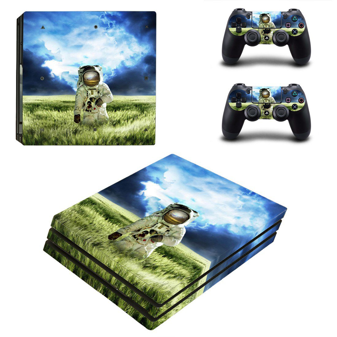 Landing astronaut skin decal for console and controllers