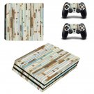 Wood slide board skin decal for console and controllers