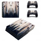Wood face skin decal for console and controllers