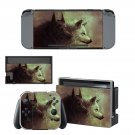 Pair wolf decal for Nintendo switch console sticker skin