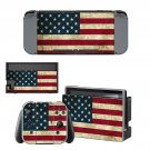 USA flag decal for Nintendo switch console sticker skin