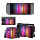 Colorful wooden board decal for Nintendo switch console sticker skin