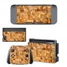 Wood slide board decal for Nintendo switch console sticker skin