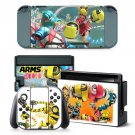 ARMS cartoon design decal for Nintendo switch console sticker skin