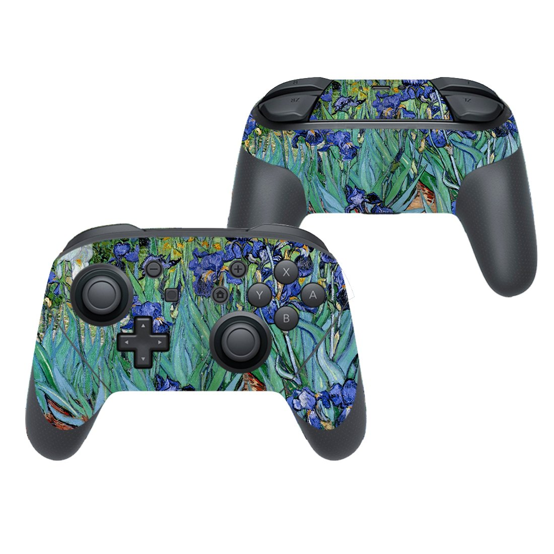 Painted floral texture decal for Nintendo switch controller pro sticker skin