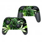 Weed flowers decal for Nintendo switch controller pro sticker skin