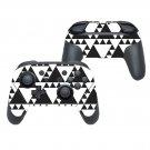 White traingle decal for Nintendo switch controller pro sticker skin