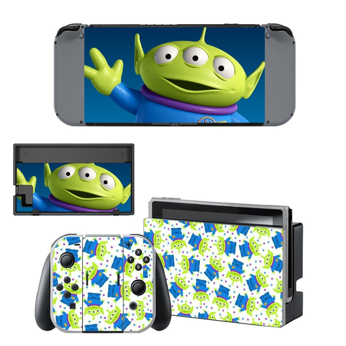 Toy story 3 aliens decal for Nintendo switch console sticker skin