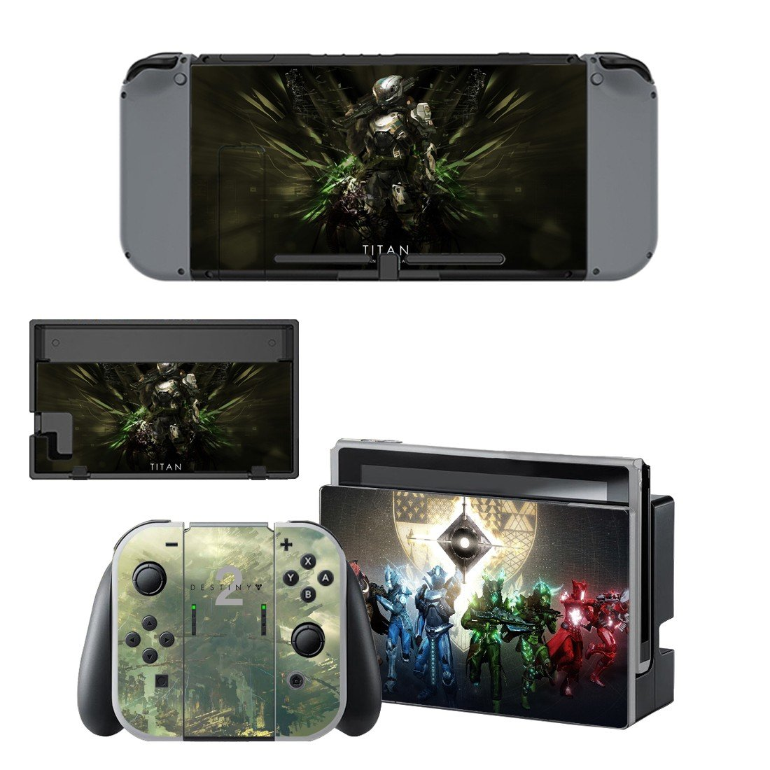 TitanNintendo switch console sticker skin