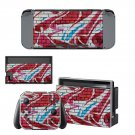 Animated  wall Nintendo switch console sticker skin