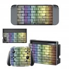 Blurry wall Nintendo switch console sticker skin