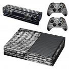 Black and white shade Brick wall skin decal for Xbox one console and controllers