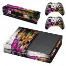 Colourful brick wall print skin decal for Xbox one console and controllers