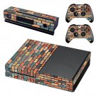 Multicolour brick wall print skin decal for Xbox one console and controllers